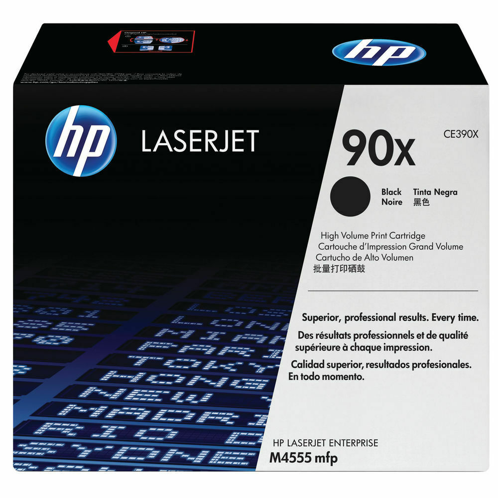HP CE390X / 90X High Capacity Toner Cartridge- Black