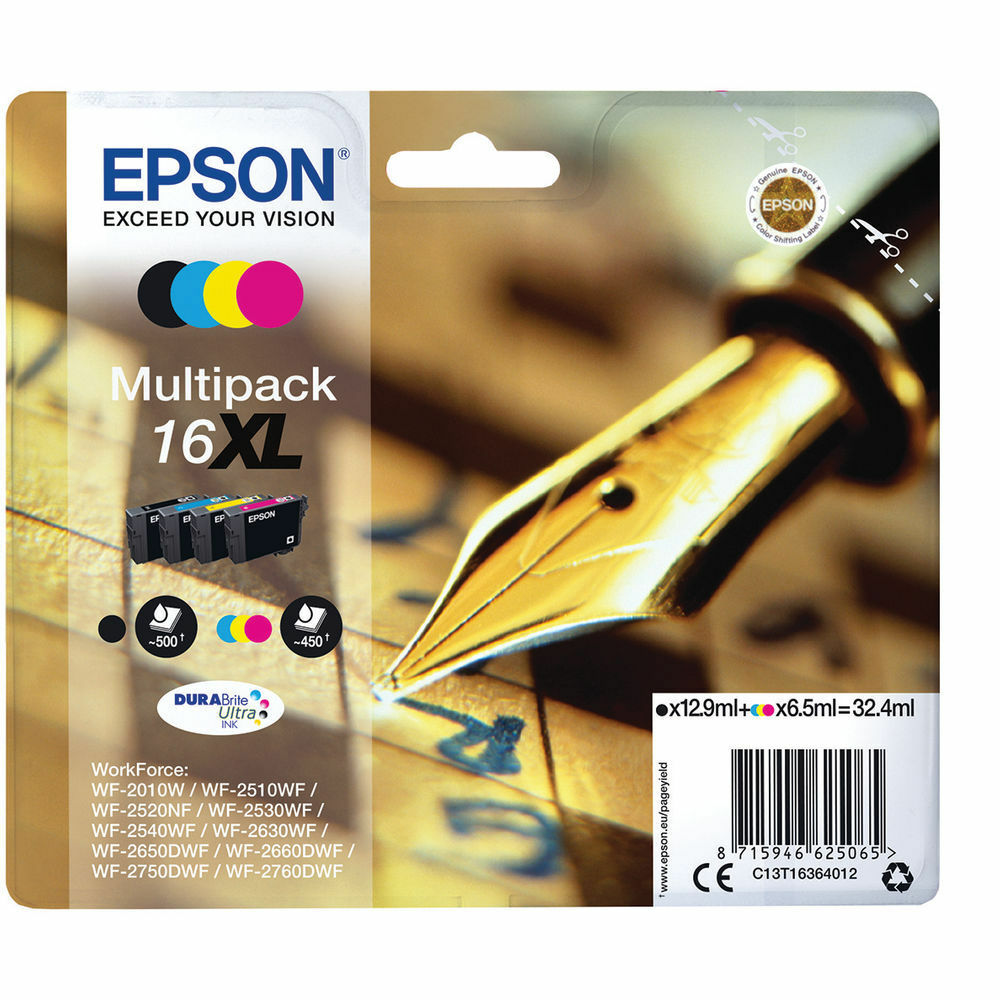 Epson High Capacity 16XL Ink Cartridge- Multi Pack / T1636