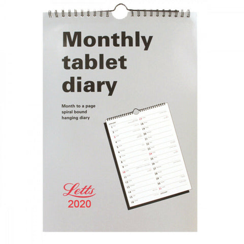 Letts A4 Monthly Tablet Calendar 2020