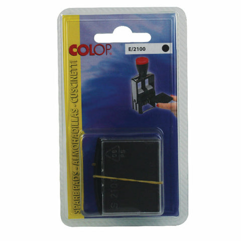 COLOP E/2100 Replacement Ink Pad Black- Pack of 2