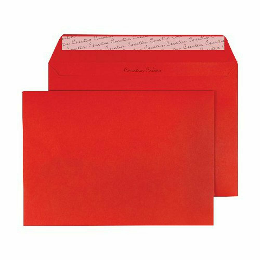 Wallet Envelope C4 Peel and Seal 120gsm Pillar Box Red- Pack of 250