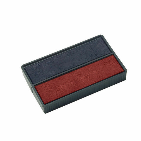 COLOP E/4850 Replacement Ink Pad Blue/Red- Pack of 2
