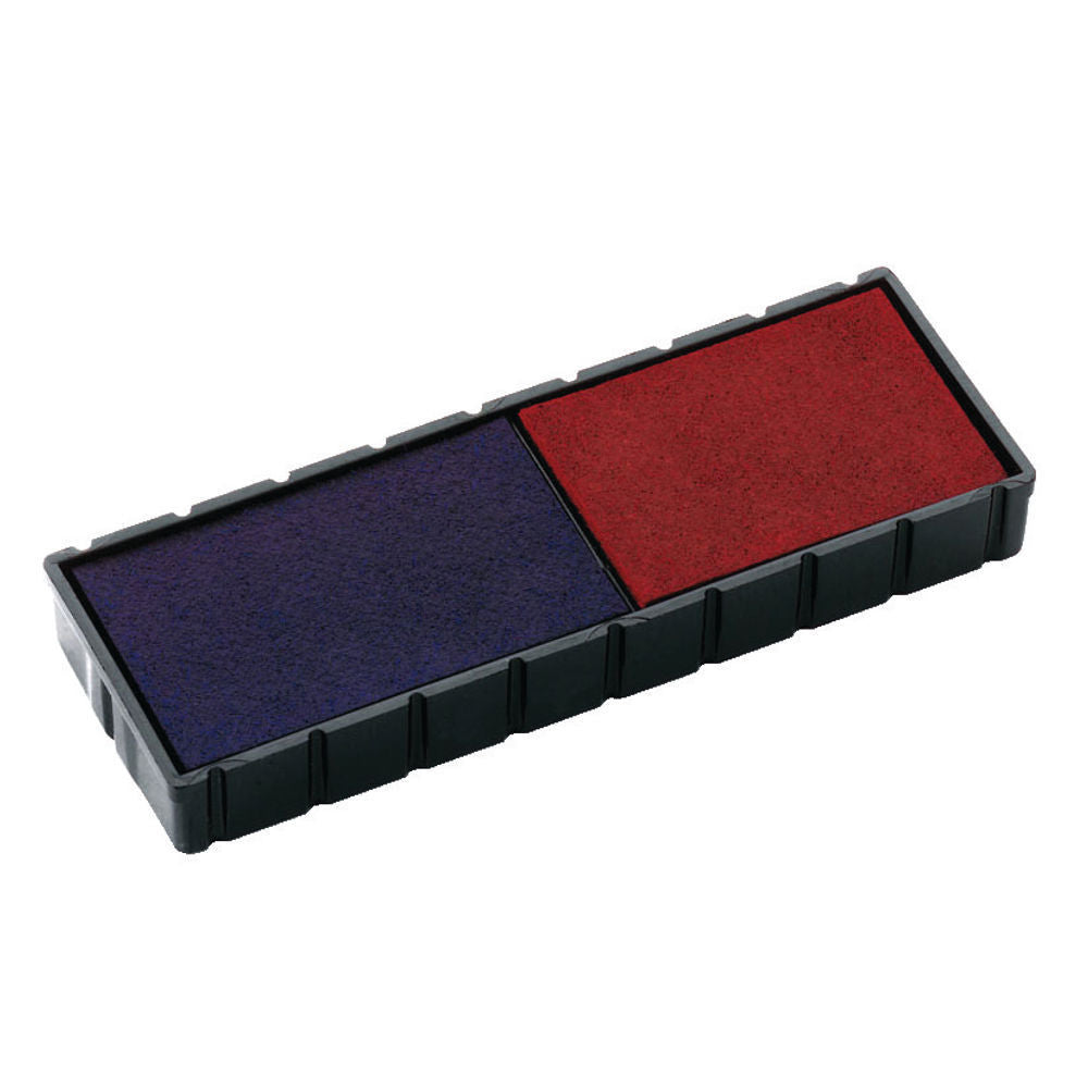 Colop E/12/2 Replacement Stamp Pad Blue /Red- Pack of 2