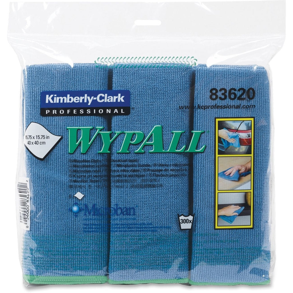 Kimberly-Clark Wypall Microfibre Cloths Pack of 6- Colour Choice