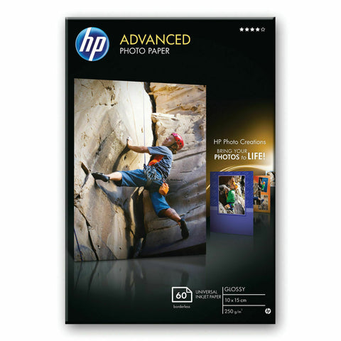 "HP 10CM X 15CM (6""X4"") Advanced Glossy Photo Paper 250gsm - Pack of 60 Sheets"
