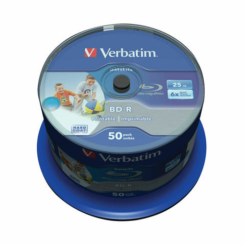 Verbatim Blu-Ray 6X BD-R SL Datalife 25GB- Pack of 50