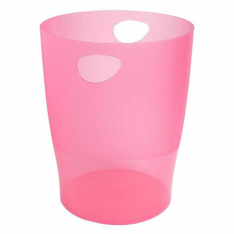 Exacompta Iderama 15 Litre Office Waste Paper Bin- Raspberry