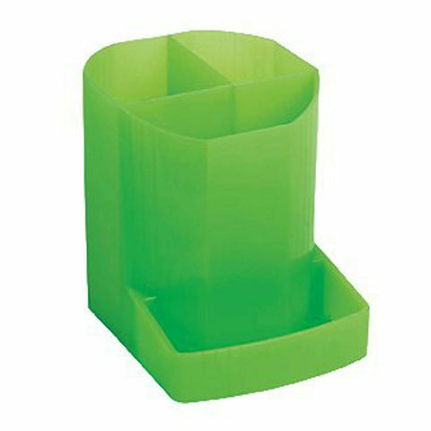 Exacompta Iderama 3 Compartment Pen Pot- Lime