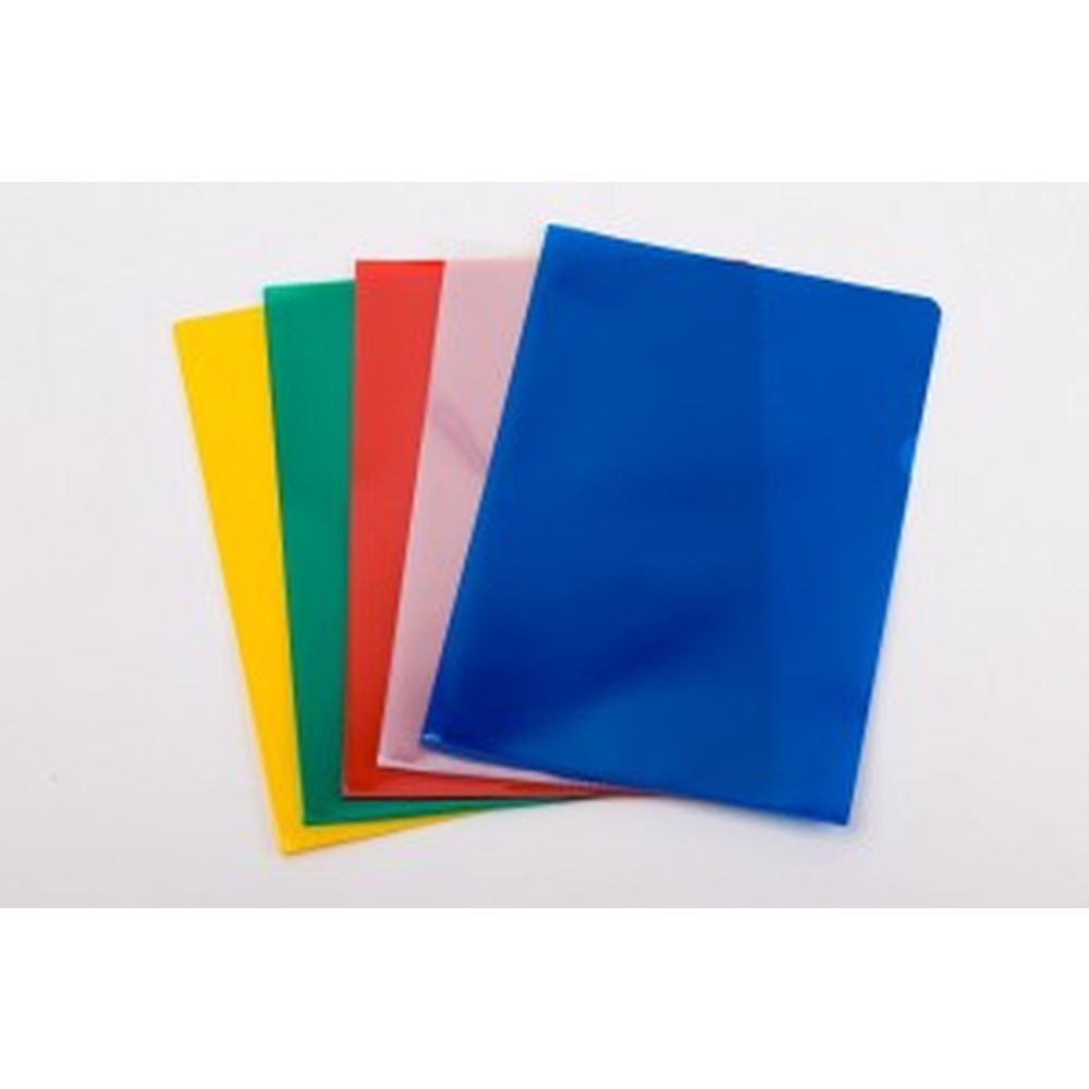 Cut Flush Folders A4 Assorted Colours - Pack of 50