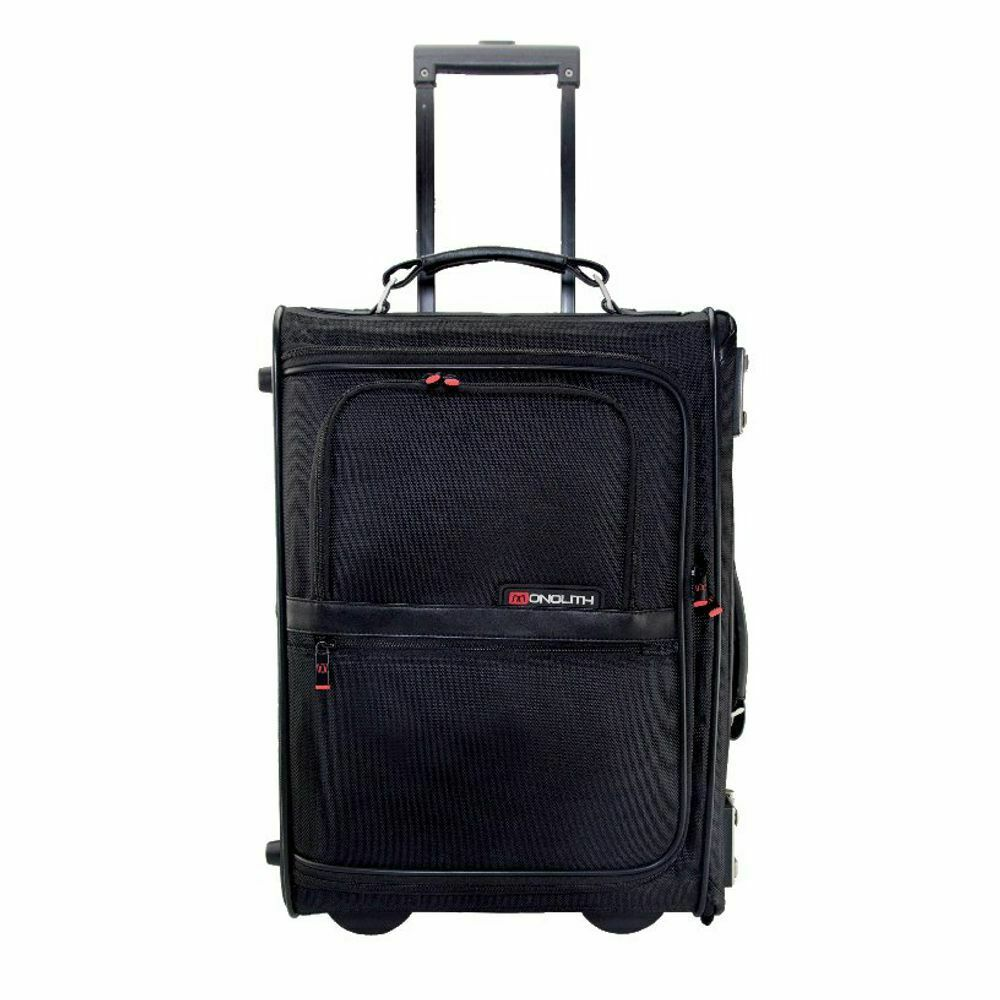 Monolith Nylon Wheeled Carry On Trolley Case Black
