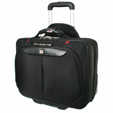 Gino Ferrari Brooklyn Wheeled Trolley Case- Black