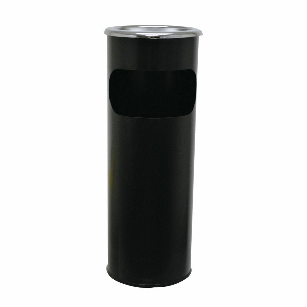 Standing Waste Bin With Round Ashtray