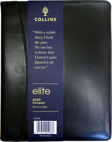 Collins Elite Compact Day Per Page 2020 Diary- Black