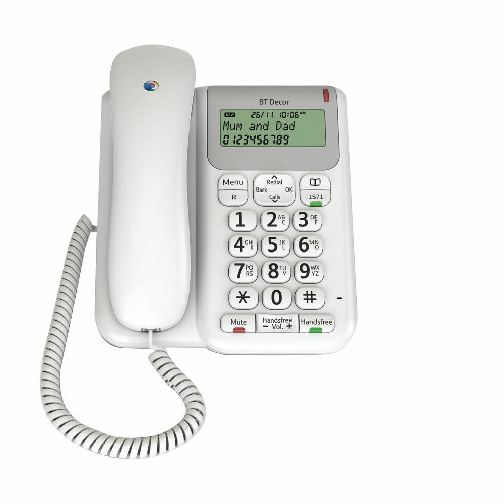 BT Telephone Decor 2200- Corded White