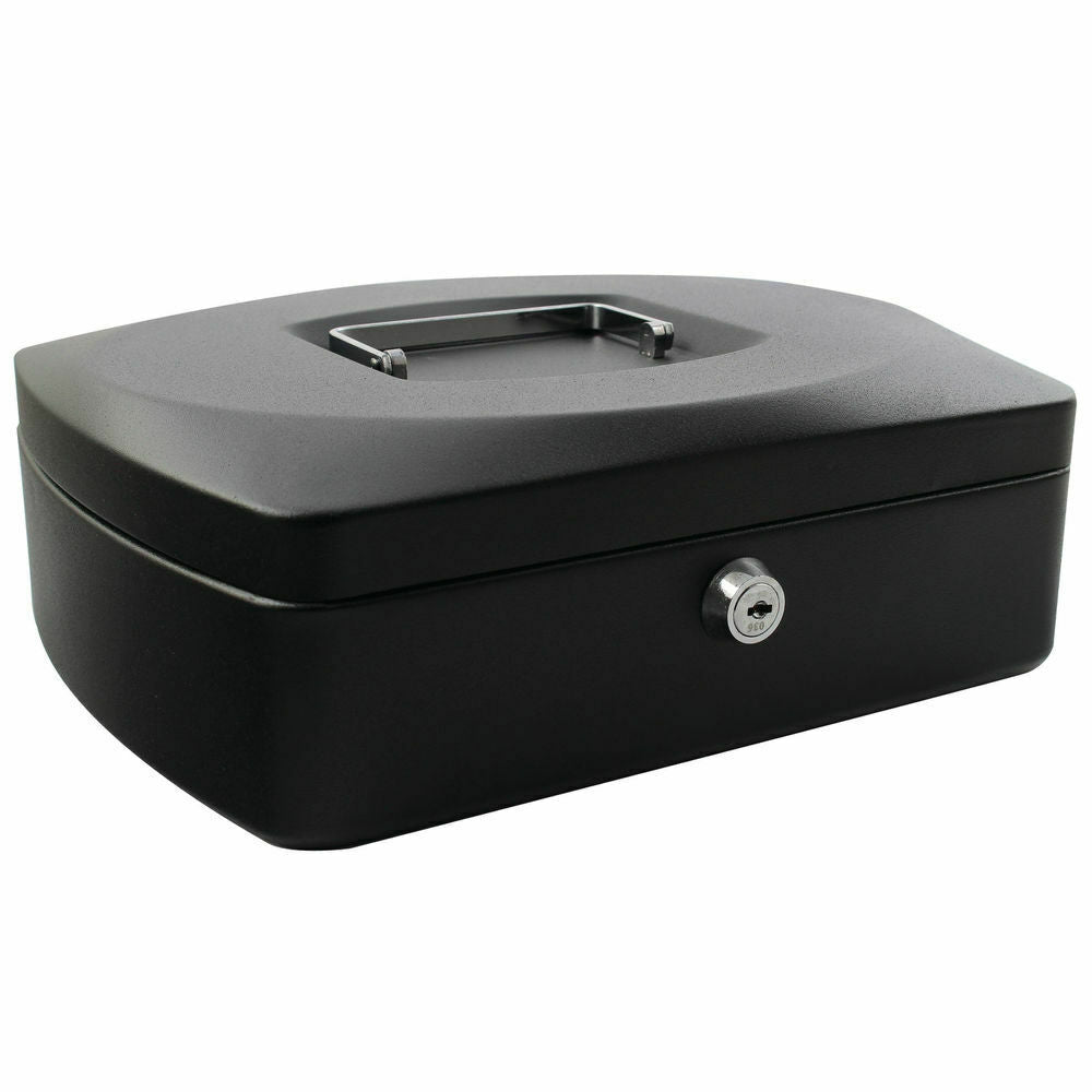 Q-Connect 12 inch Black Cash Box