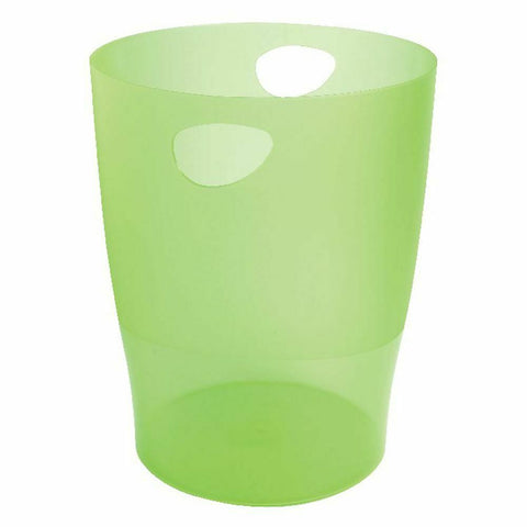 Exacompta Iderama 15 Litre Office Waste Paper Bin- Lime