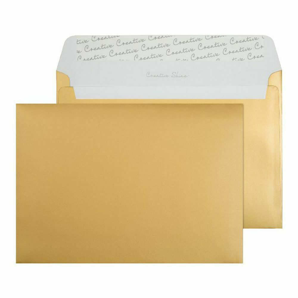 Wallet Envelope C6 Peel and Seal 120gsm Metallic Gold- Pack of 250