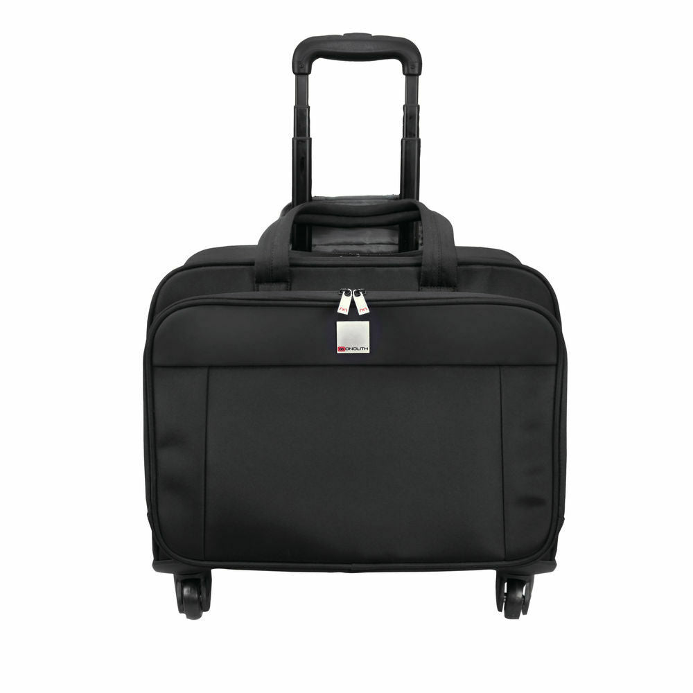 Motion II 4 Wheel Laptop Trolley Case- Black