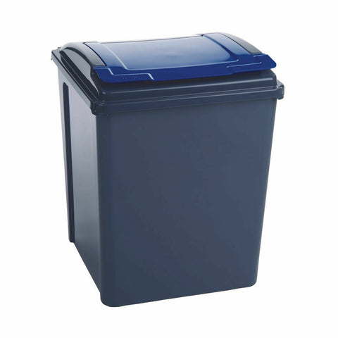 VFM Recycling Bin With Lid 50 Litre- Blue