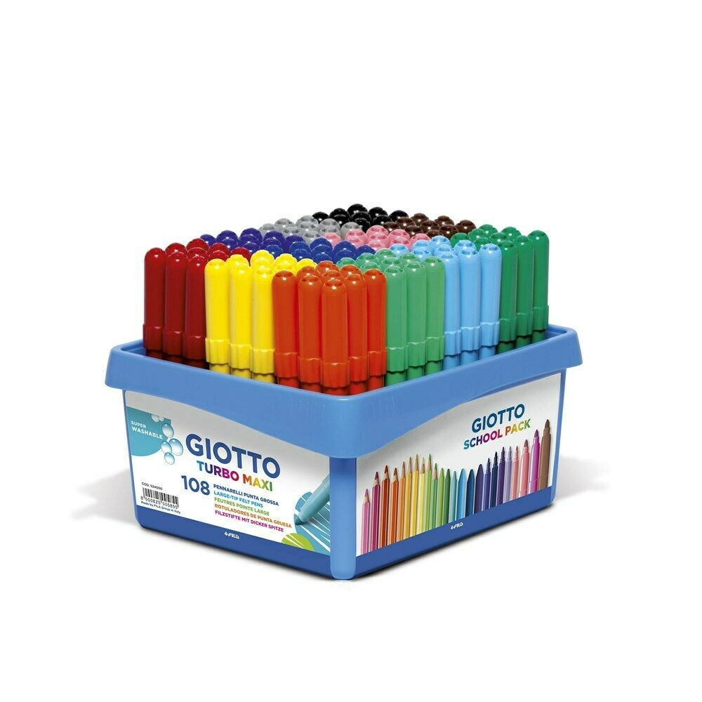 Giotto Turbo Maxi Colour Pens- Pack of 108