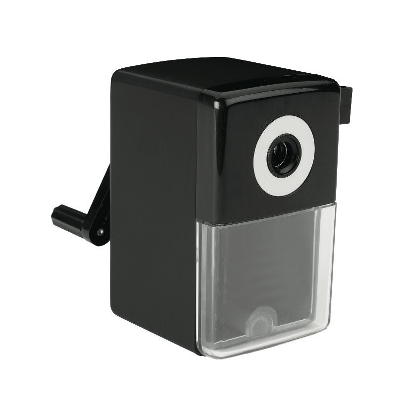 Q-Connect Manual Desktop Pencil Sharpener Black