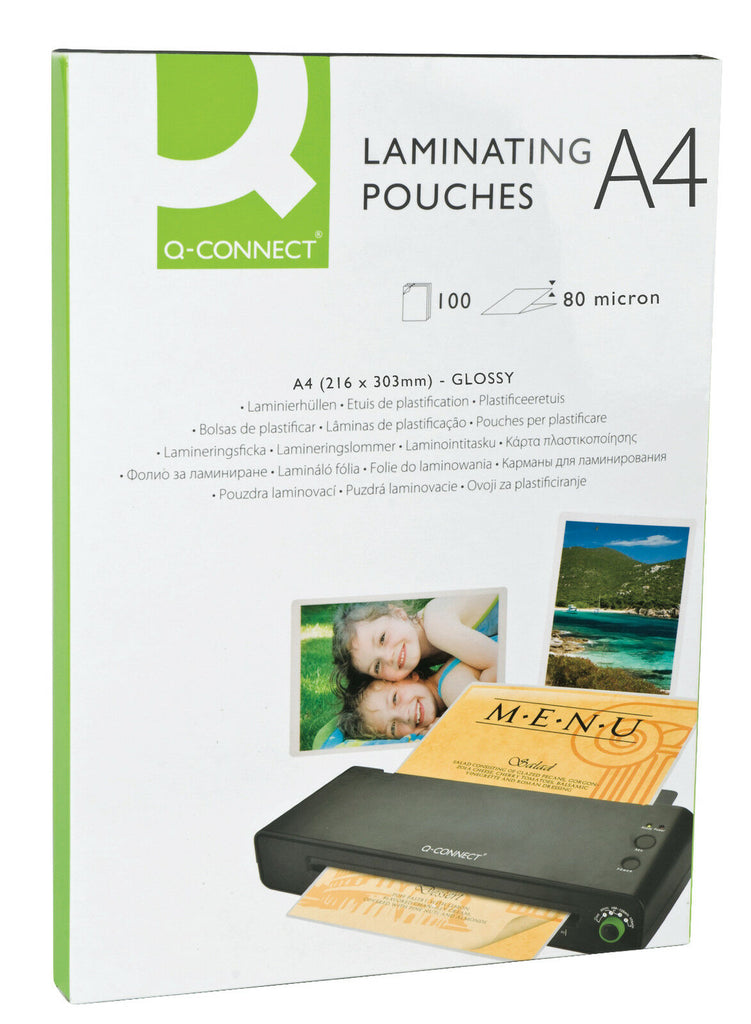 Q-Connect Laminating Pouches A4 **MATT** 160micron- Pack 100