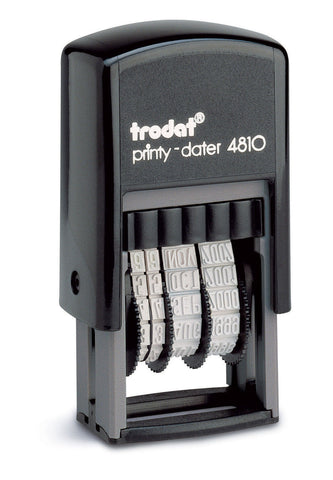 Trodat Mini Dater Stamp 4810- Self Inking Rubber Stamp