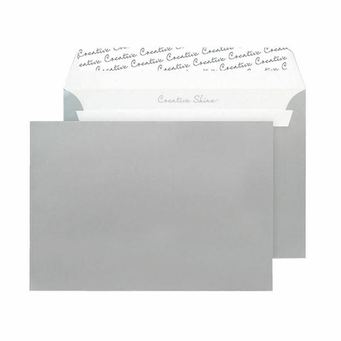 Wallet Envelope C6 Peel and Seal 120gsm Metallic Silver- Pack of 250