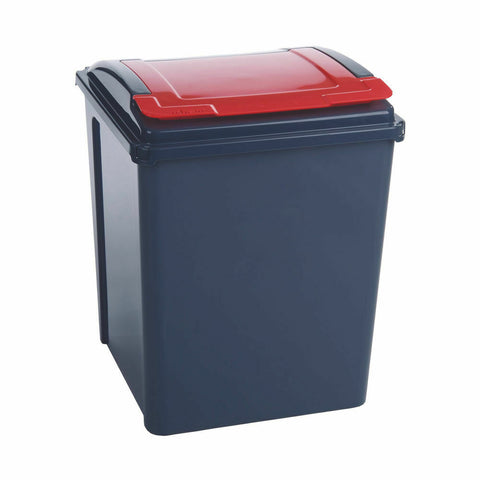VFM Recycling Bin With Lid 50 Litre- Red