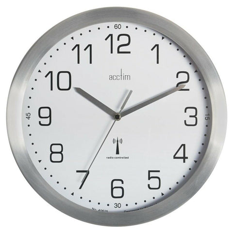 Acctim Mason Radio Controlled Wall Clock Silver
