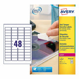 Avery Laser Anti-Tamper Resistant ( L6113-20)- 48 Labels Per Sheet- 20 Sheets