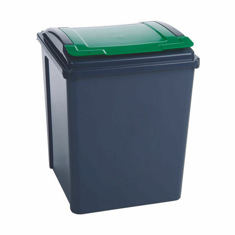VFM Recycling Bin With Lid 50 Litre- Green