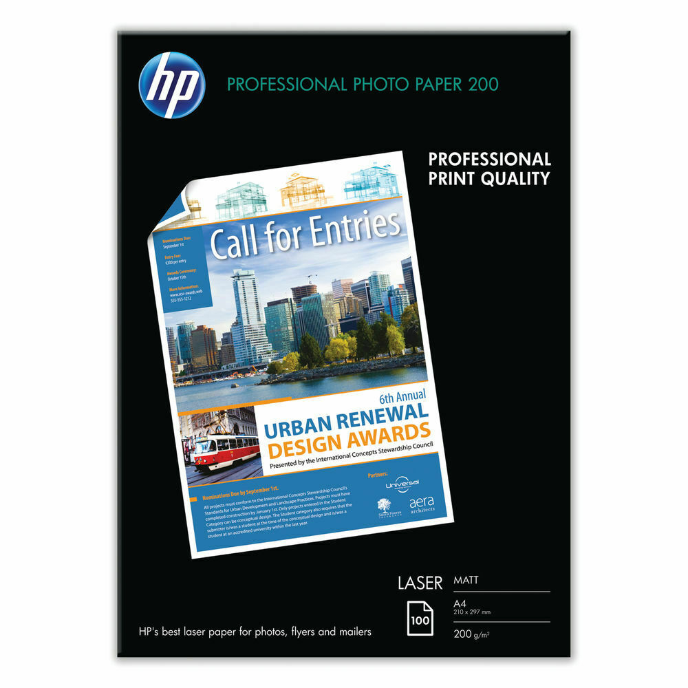HP A4 Professional Matt Paper 200gsm - 100 Sheets