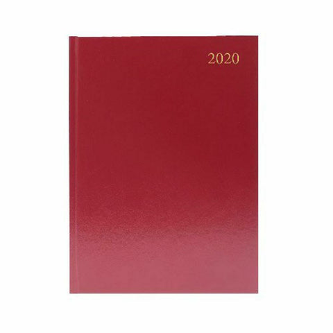 Hard Backed Diary 2020 Day To Page- Colour And Size Choice