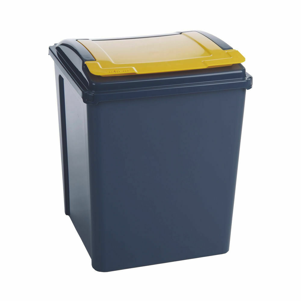 VFM Recycling Bin With Lid 50 Litre- Yellow