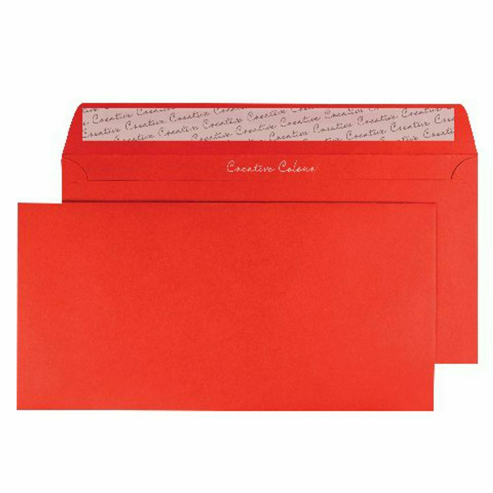 Wallet Envelope DL Peel and Seal 120gsm Pillar Box Red- Pack of 250