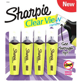 Sharpie Clear View Highlighters Yellow- Pack of 4