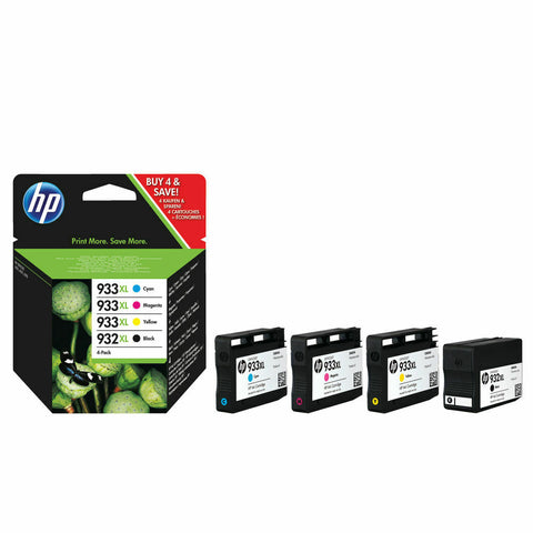 HP 932XL Black /933XL Cyan/Magenta/Yellow High Yield Ink Cartridges- Pack of 4