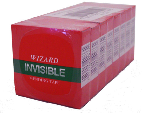 Wizard Invisible Tape 18mm x 33m- Pack of 8