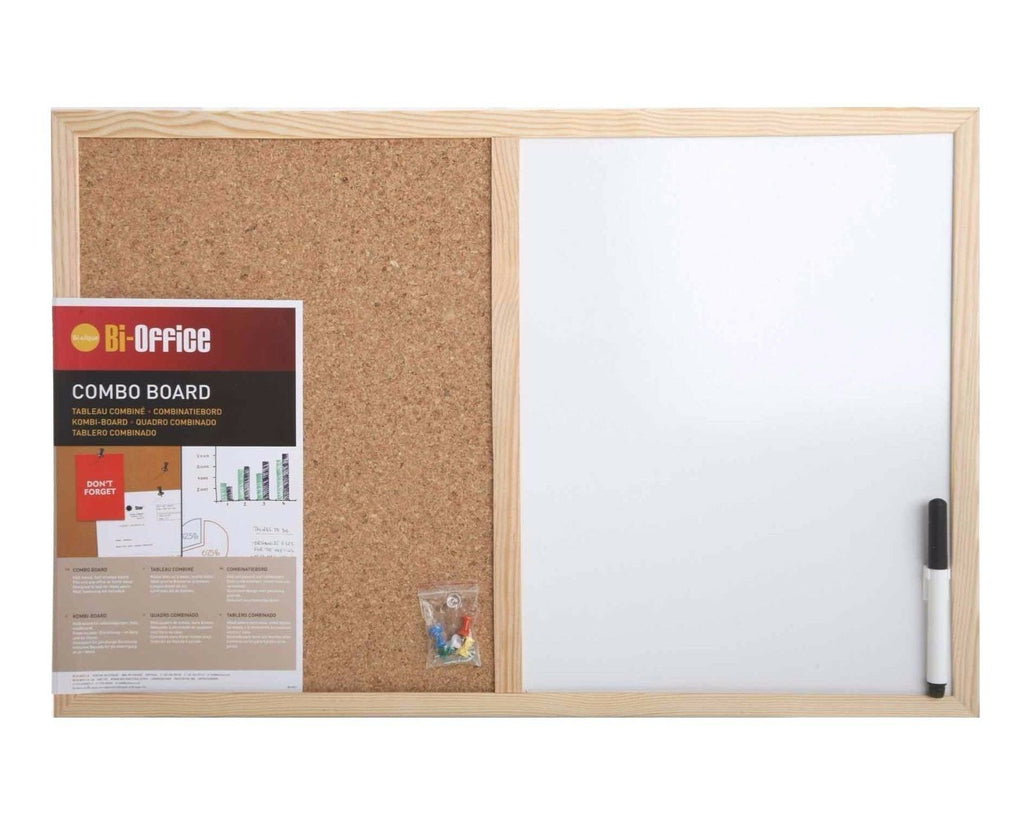 Bi-Office Cork and Dry Wipe Notice Board