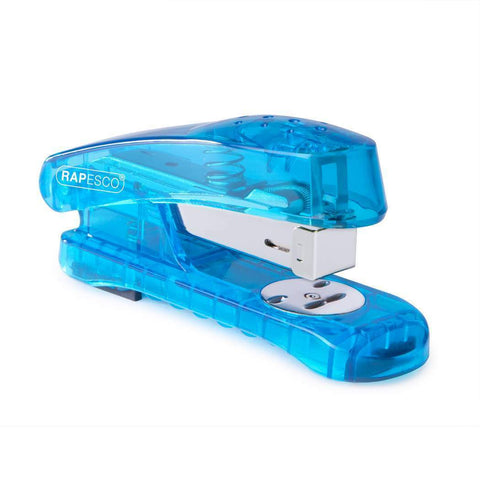 Rapesco Snapper Stapler + FREE 5000 Staples- See Thru Blue
