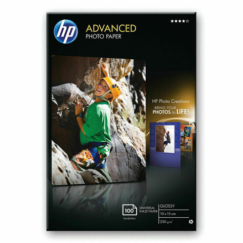 HP Advanced (10 x 15cm) Glossy Photo Paper 250gsm Borderless- Pack of 100 Sheets