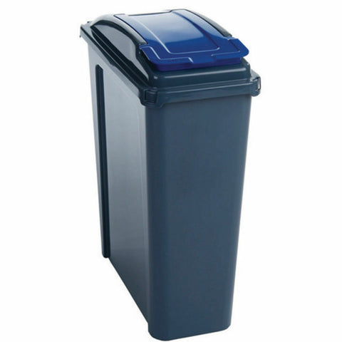 VFM Recycling Bin With Lid 25 Litre- Blue