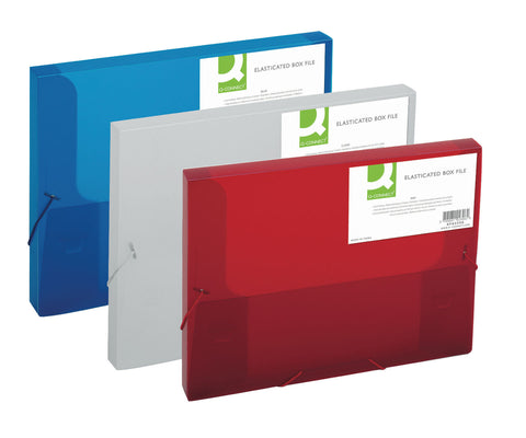 Elasticated Box File Document Holder Wallet A4+ Folder 25mm- Colour Choice