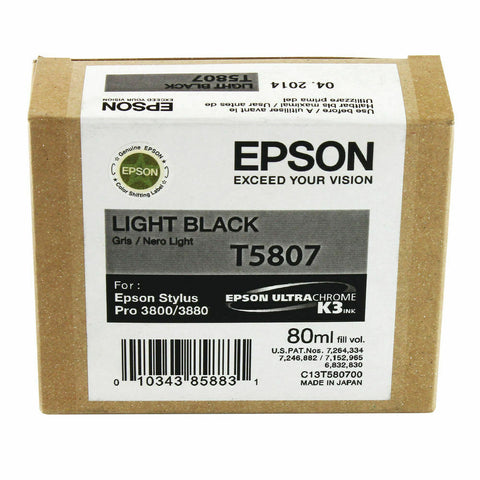 Epson T5807 Inkjet Cartridge- Light Black