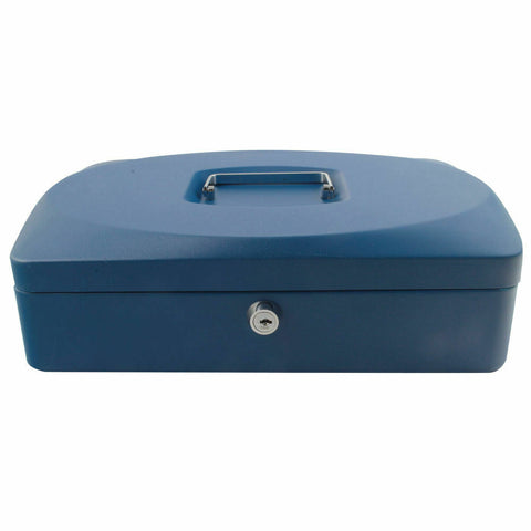 Q-Connect 12 inch Blue Cash Box