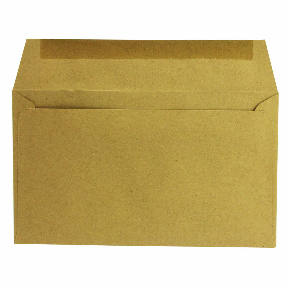 Q-Connect 89x152mm Gummed Manilla Envelope 70gsm -Pack of 1000