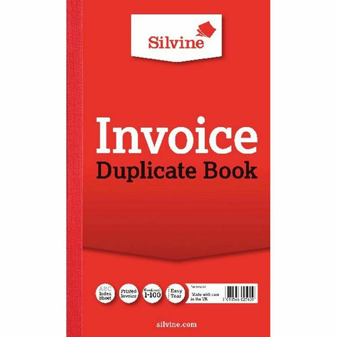 Silvine Duplicate Invoice Book (611) 210x127mm- Pack of 6