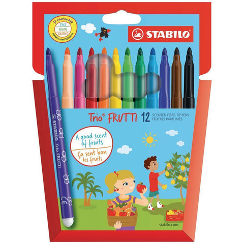 Stabilo Trio Frutti Scented Felt Pen Pack of 12 Assorted