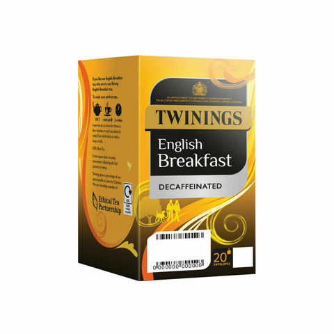 Twinings English Breakfast Decaffeinated Tea Bags- Pack of 80